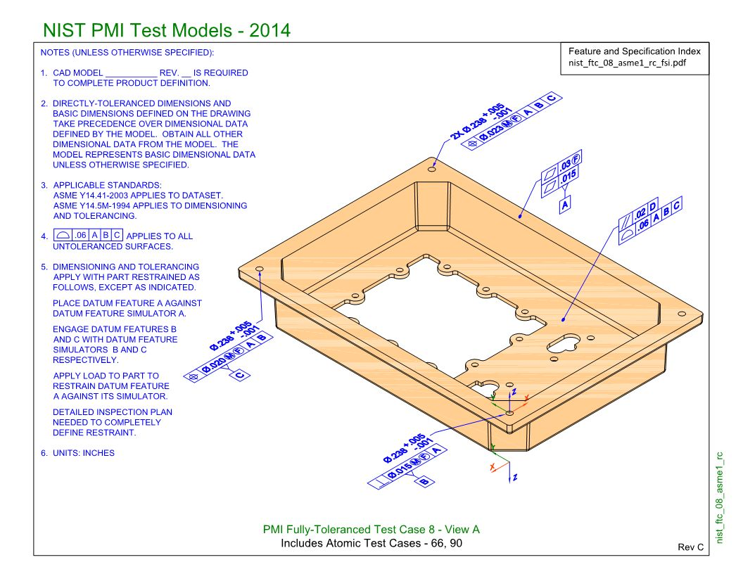 SP5/TGP3 (NIST FTC-08): Semantic PMI Representation / Tessellated PMI Presentation